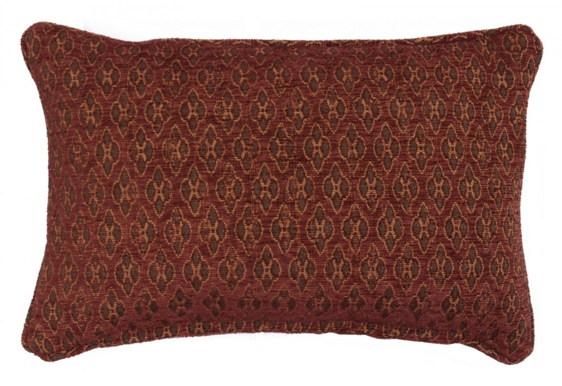 Envelope scatter cushion in terracotta woven chenille
