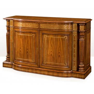 Exceptional break bowfront side cabinet