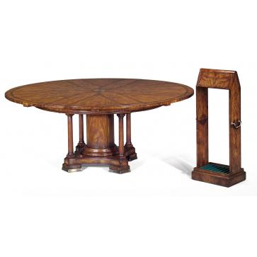 Expanding Jupes table in crotch mahogany - Dia 67 to 90