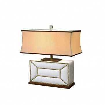 Fabric padded table lamp