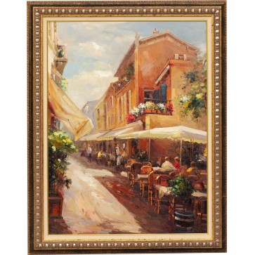Fiesta, framed oil painting