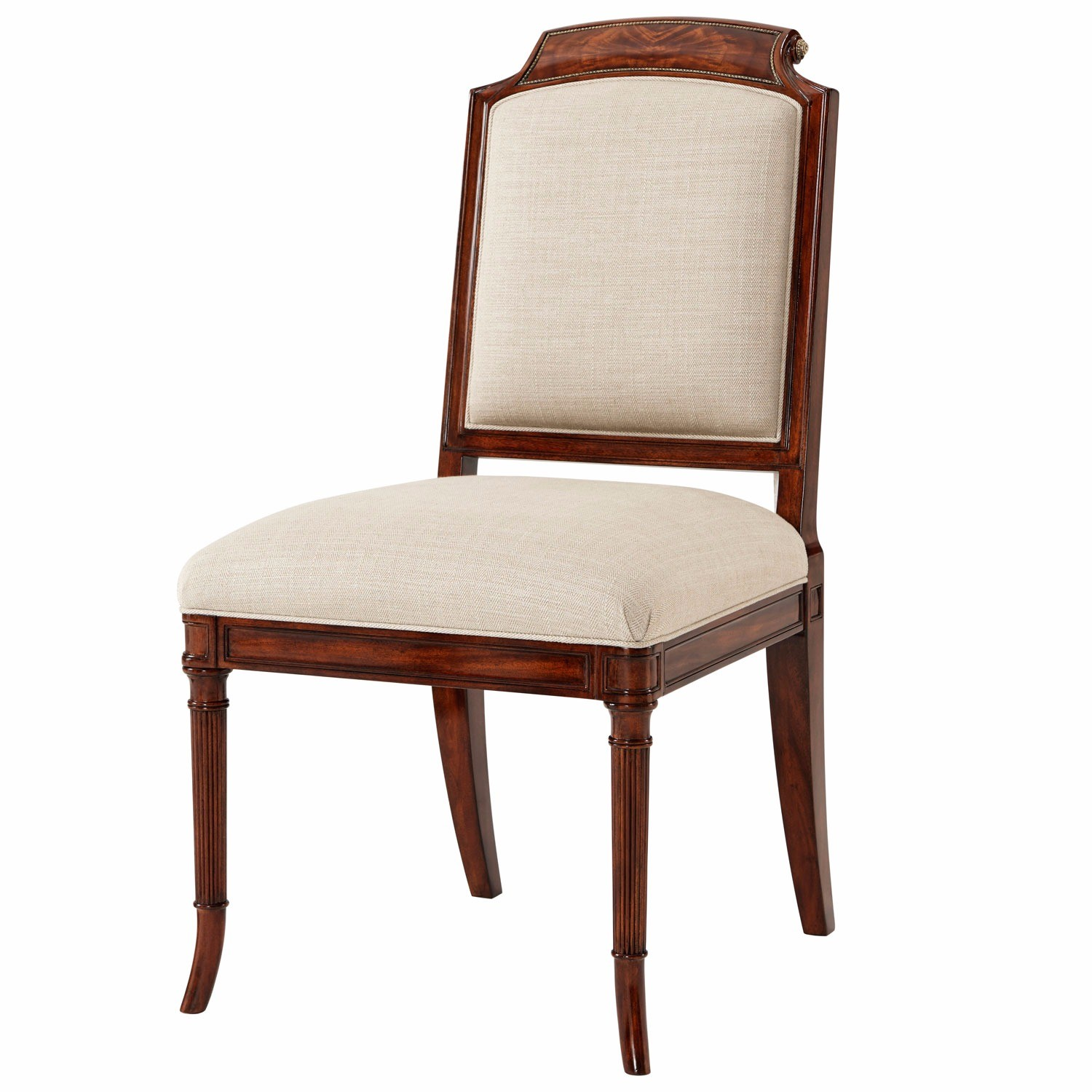 finely carved mahogany dining chair