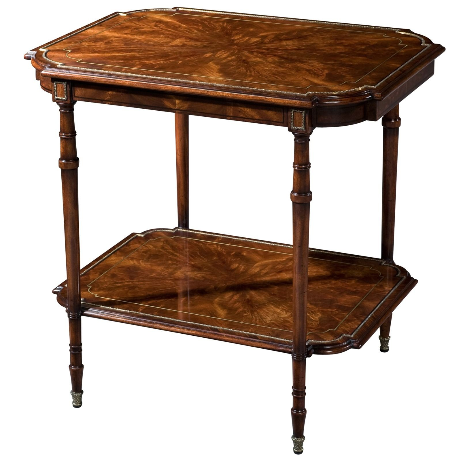Flame mahogany accent table