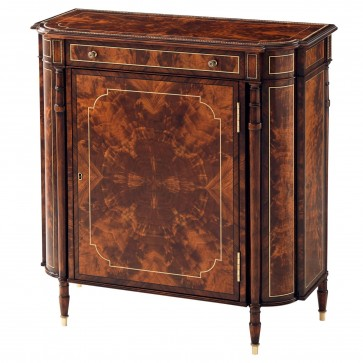 Flame mahogany side cabinet