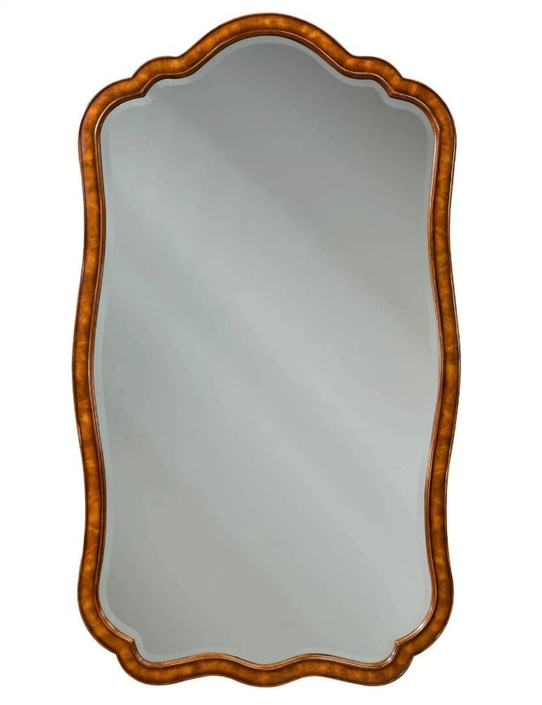 Flame mahogany wall mirror