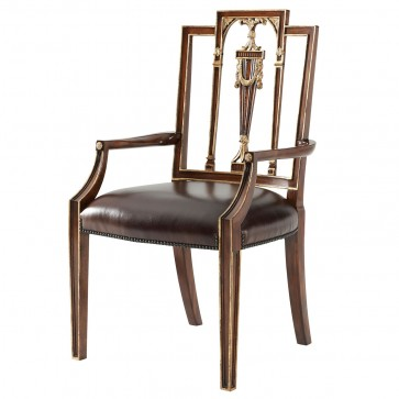 Formal Lines Arm Chair
