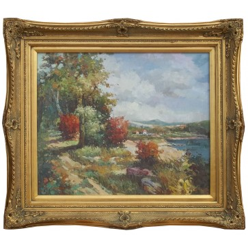 Framed oil painting of Countryside View