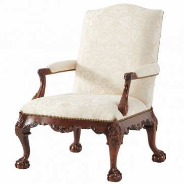 Gainsborough chair in cream cotton jacquard