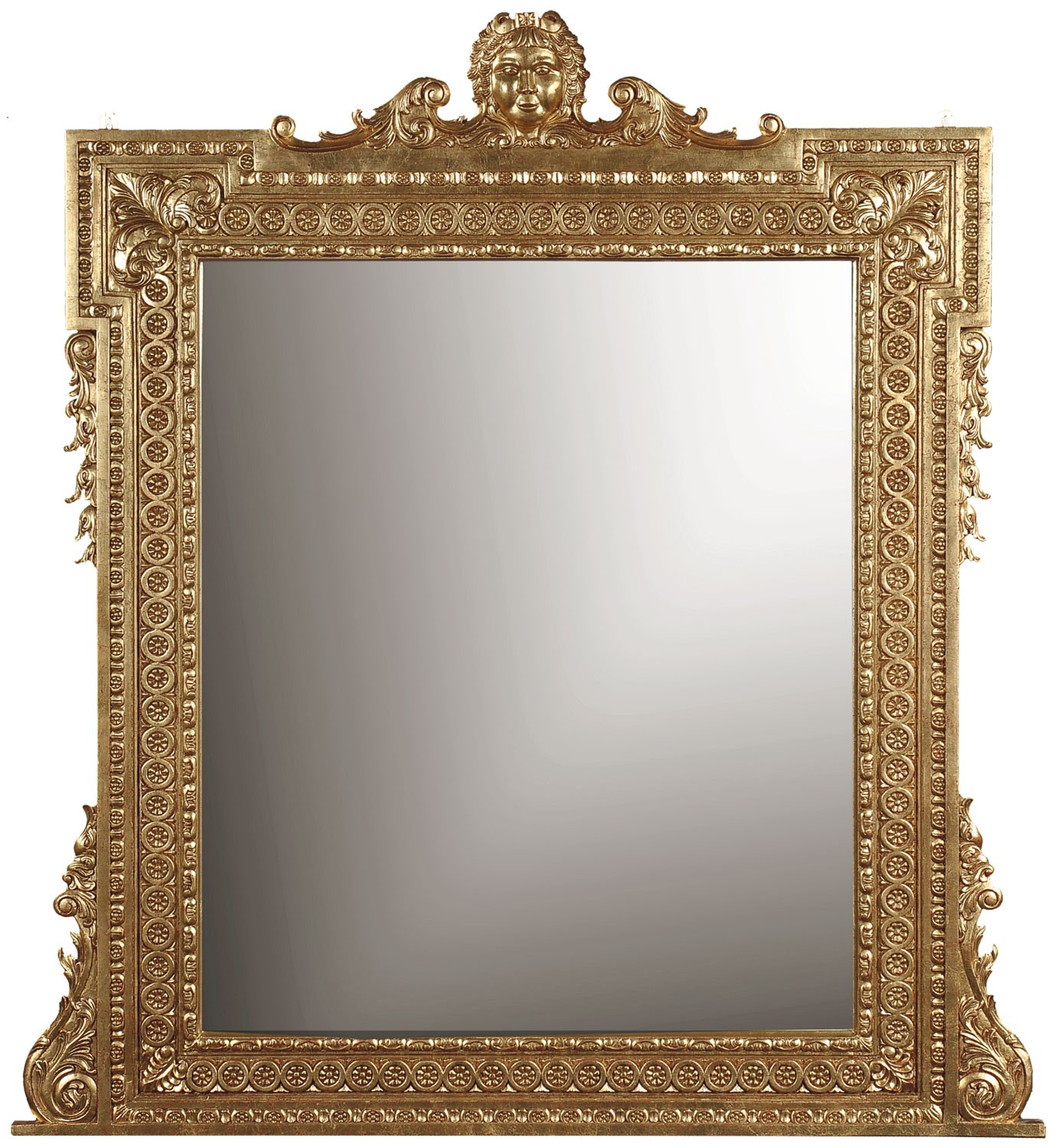George II style gilded mirror