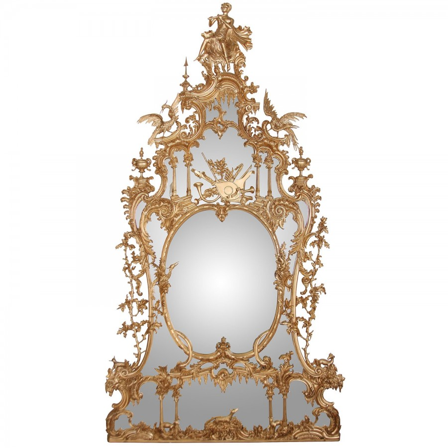 George II style hand carved giltwood mirror
