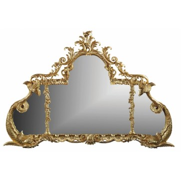 George III style overmantel mirror
