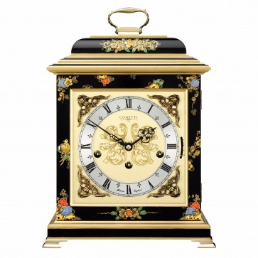 Georgian style basket top table clock