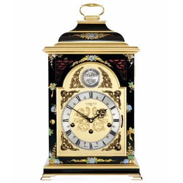 Georgian style bell top chinoiserie table clock