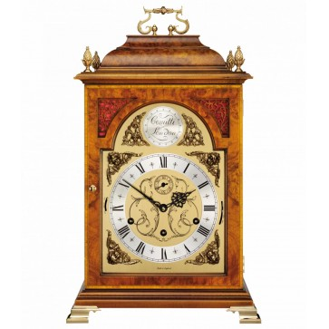 Georgian style bell top table clock