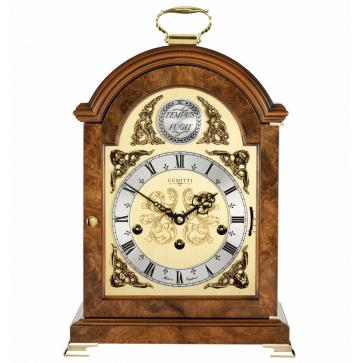 Georgian style break arch table clock