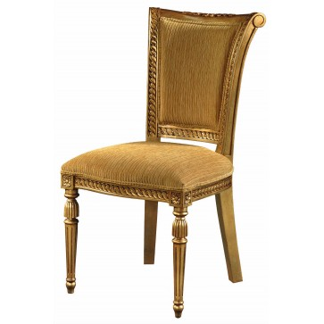 Gilded high back dining chair