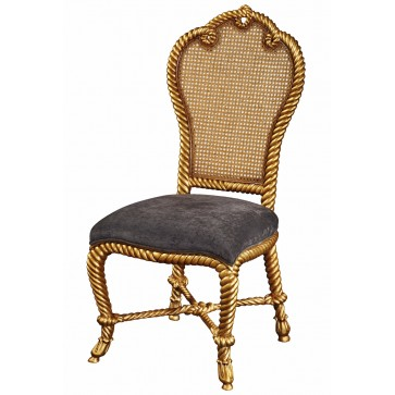 Gilt twisted rope dining chair
