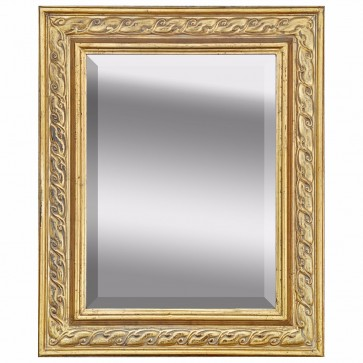 Giltwood mirror with bevelled glass