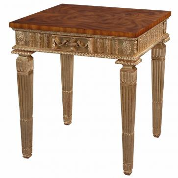 Giltwood side table with cerejeira top