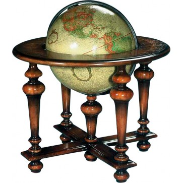 Globe on a dark walnut stand