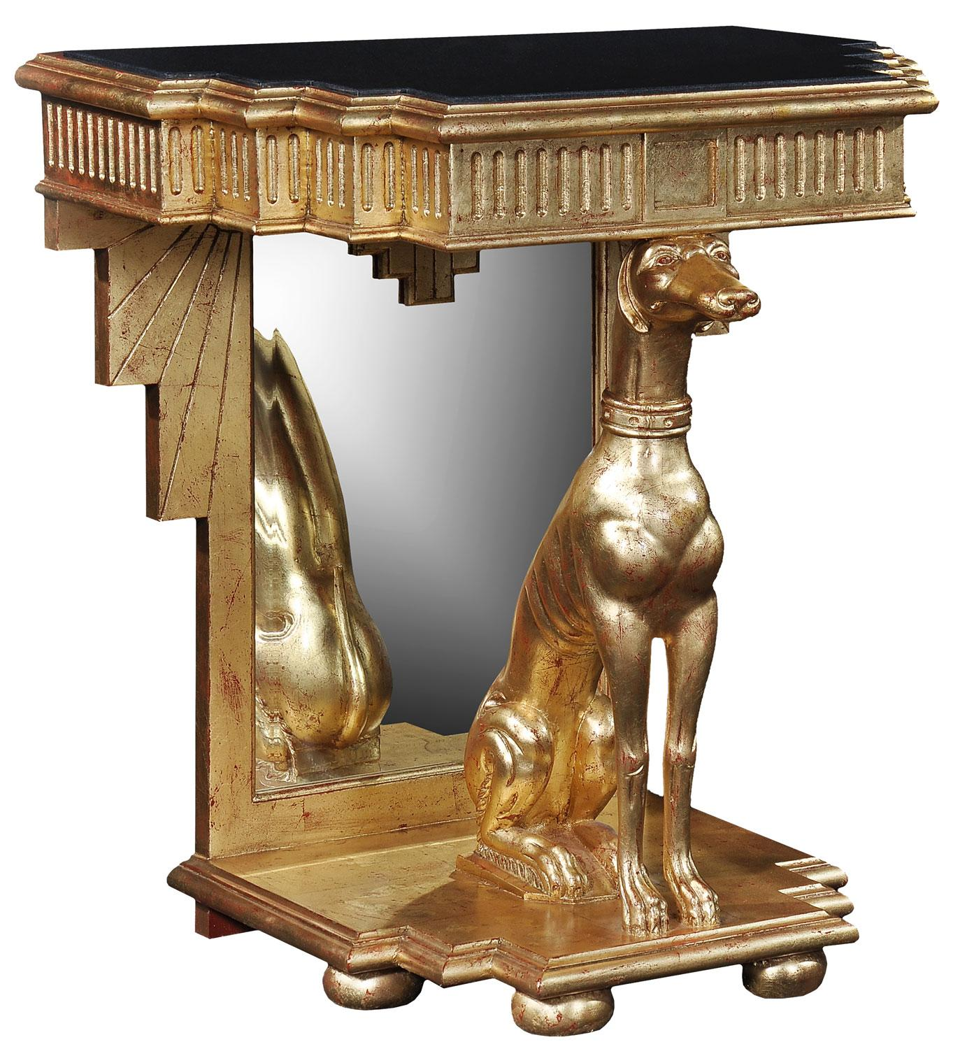 Great Gold Leaf Console Table   Antique Finish
