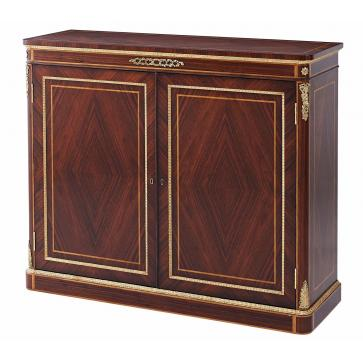 Granadillo and brass side cabinet