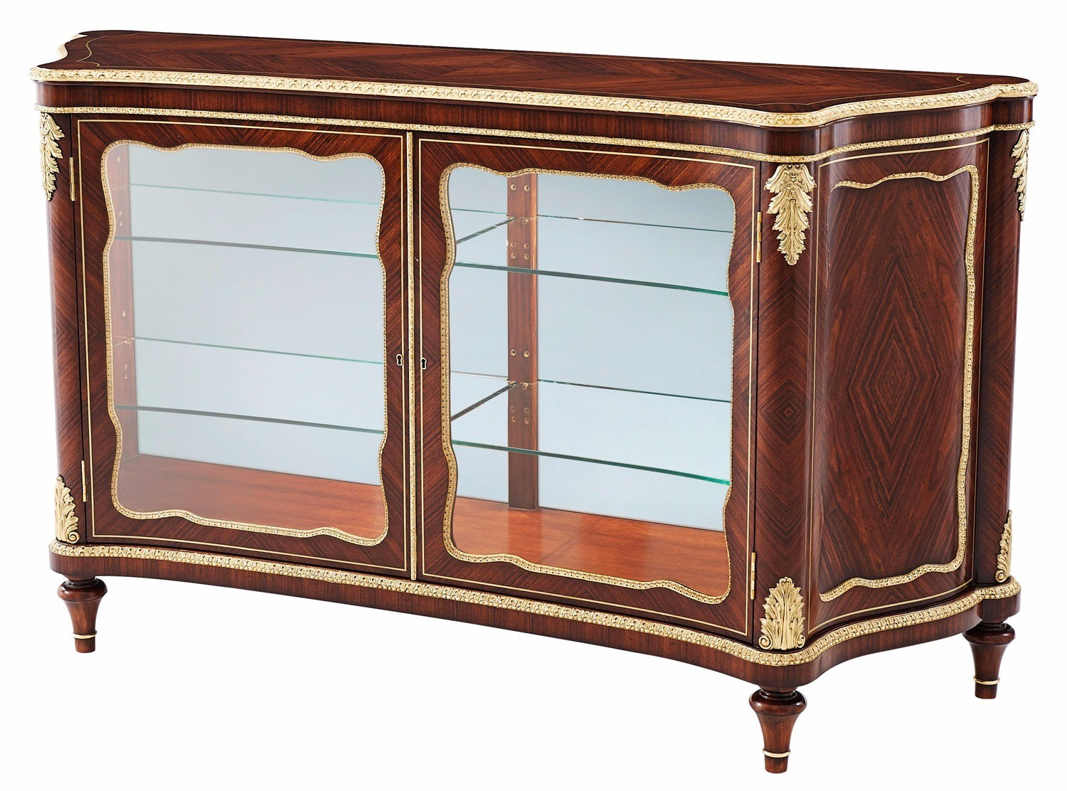 Granadillo Serpentine Display Cabinet
