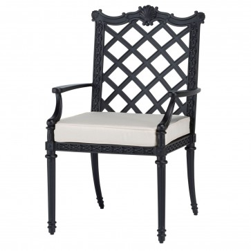 Grande outdoor dining arm chair