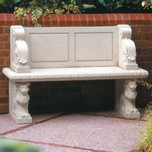 Hadrian traditional stone bench