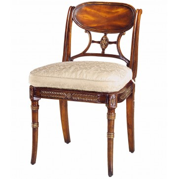Hand carved and gilt dining chair