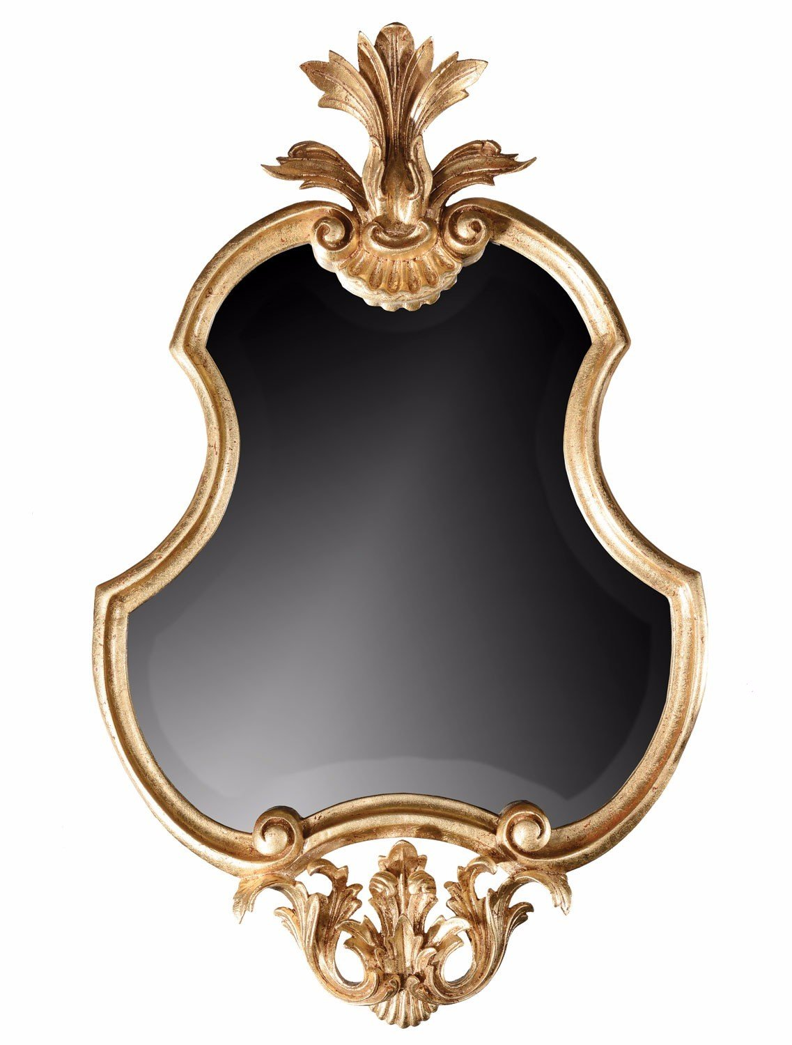 Hand carved French style gilded mirror - 65cm