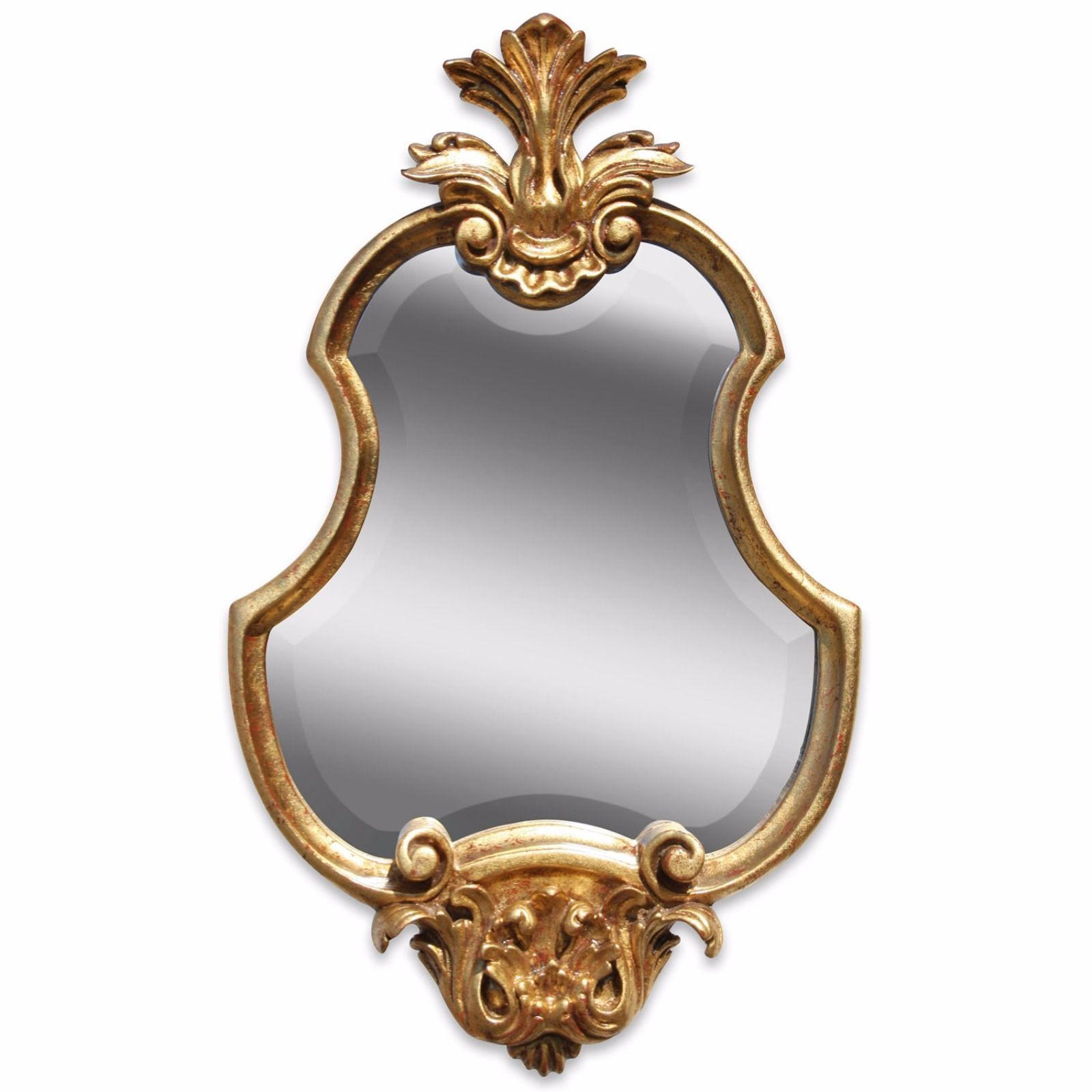 Hand carved French style gilded mirror