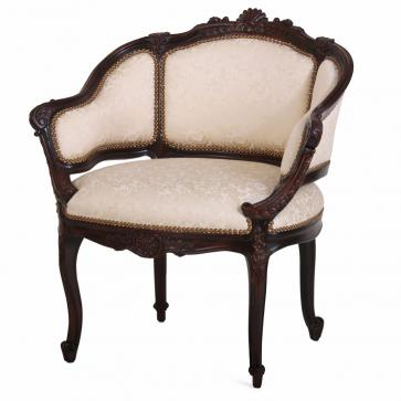 Hand carved occasional chair