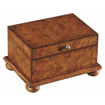 Hand made jewellery chest in burr oak
