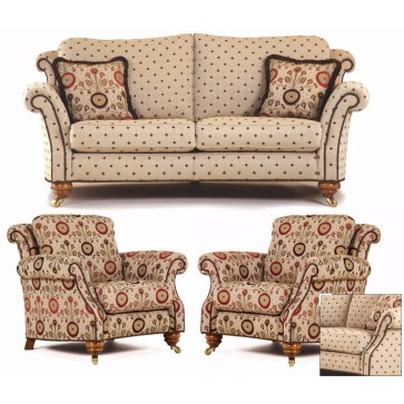 Hedley curved 3 piece suite