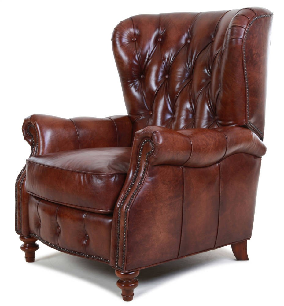 Hereford leather recliner chair Wing chairs in stock from