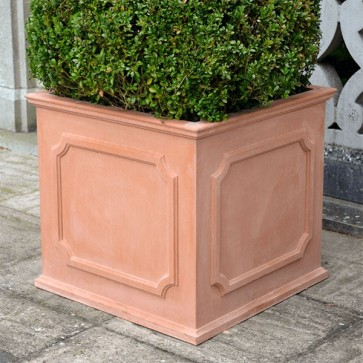 Heritage square stone planter (Large) - Terracotta