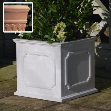 Heritage square stone planter (Medium) - Terracotta