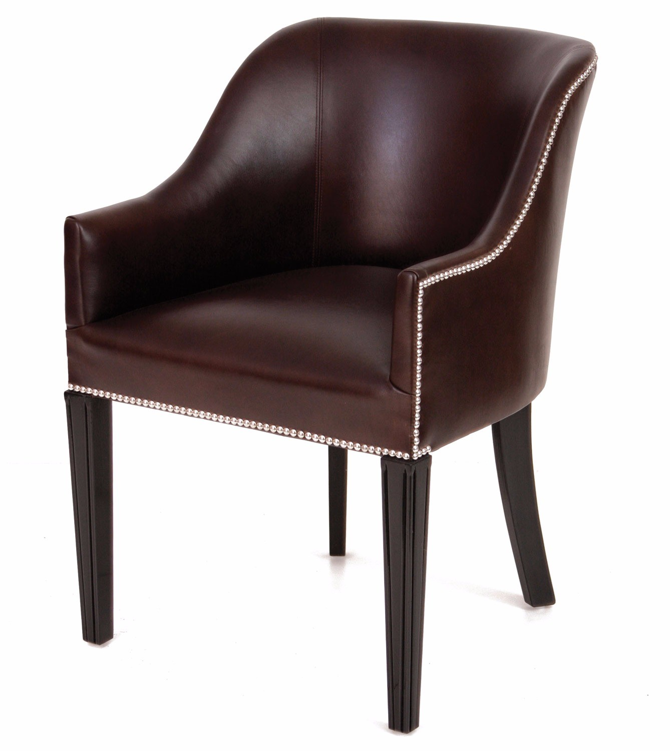 Hinton Tub Chair In Dark Chocolate Leather