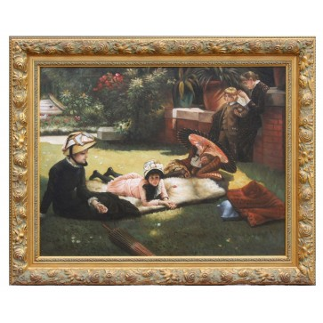 In The Sunshine oil painting after James Tissot