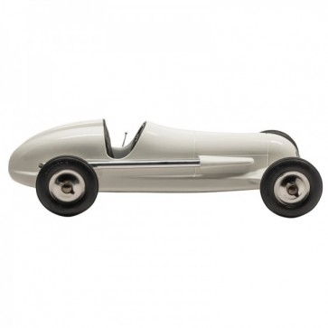 Indianapolis 1930s model racing car - White