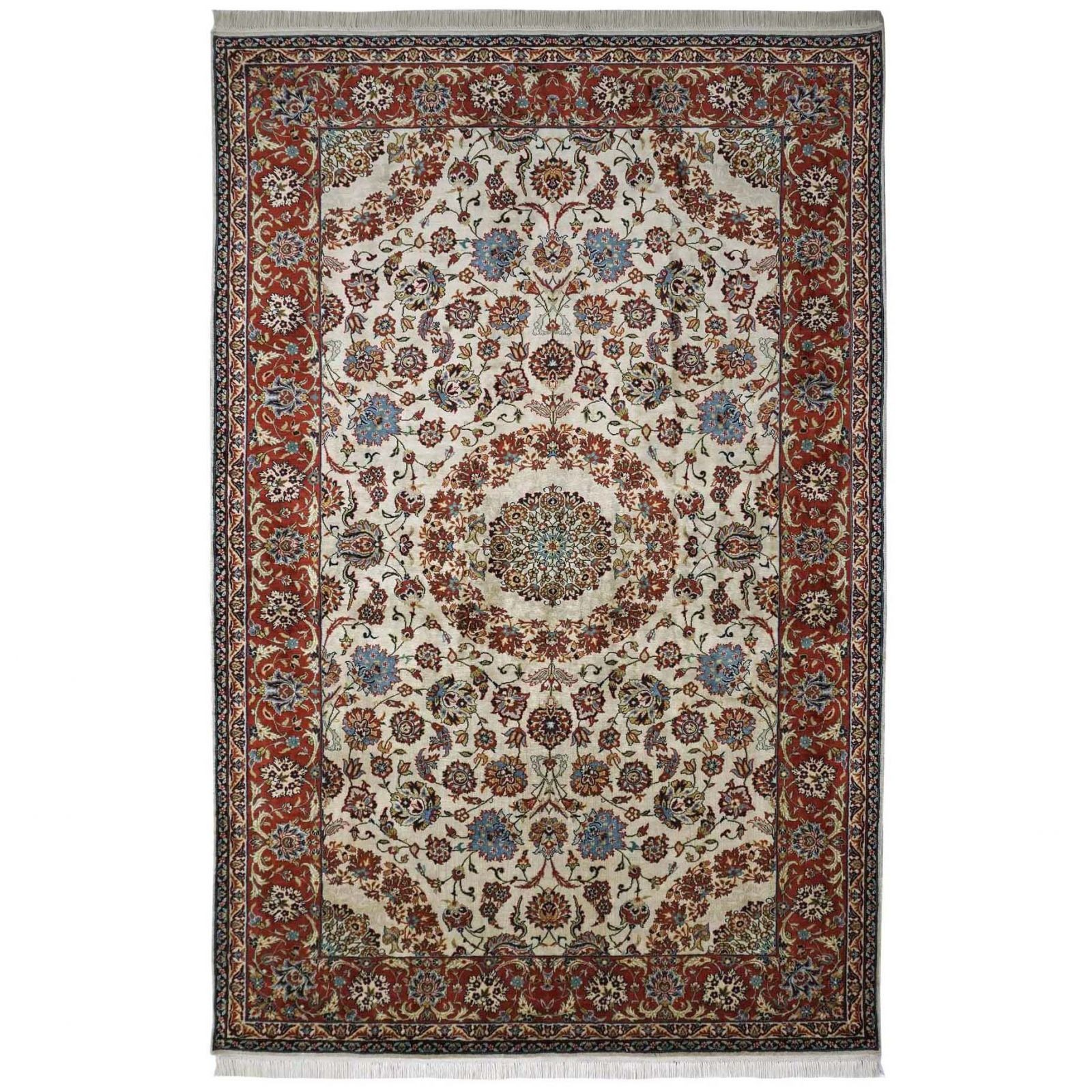 Isfahan design silk pile carpet