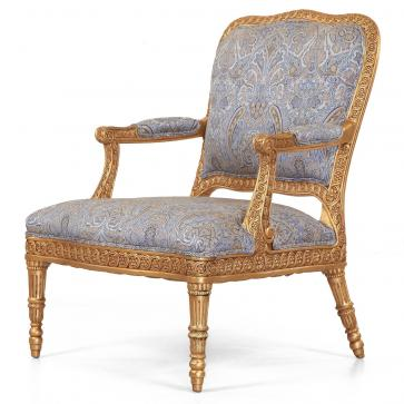James giltwood chair in Gainsborough Makins Paisley