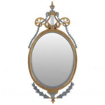 John Linnell style mirror in bespoke water gilded finish