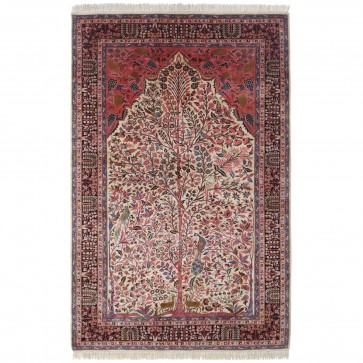 Kashan 100% silk carpet