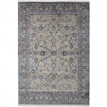 Kashan design silk pile carpet