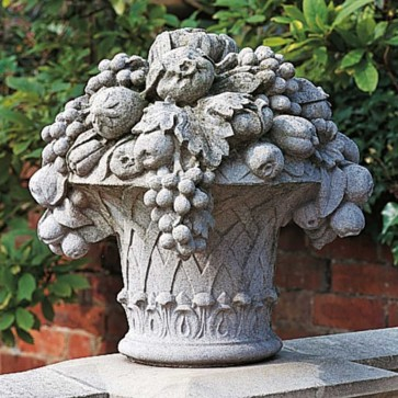 Large Basket of Fruit stone garden ornament