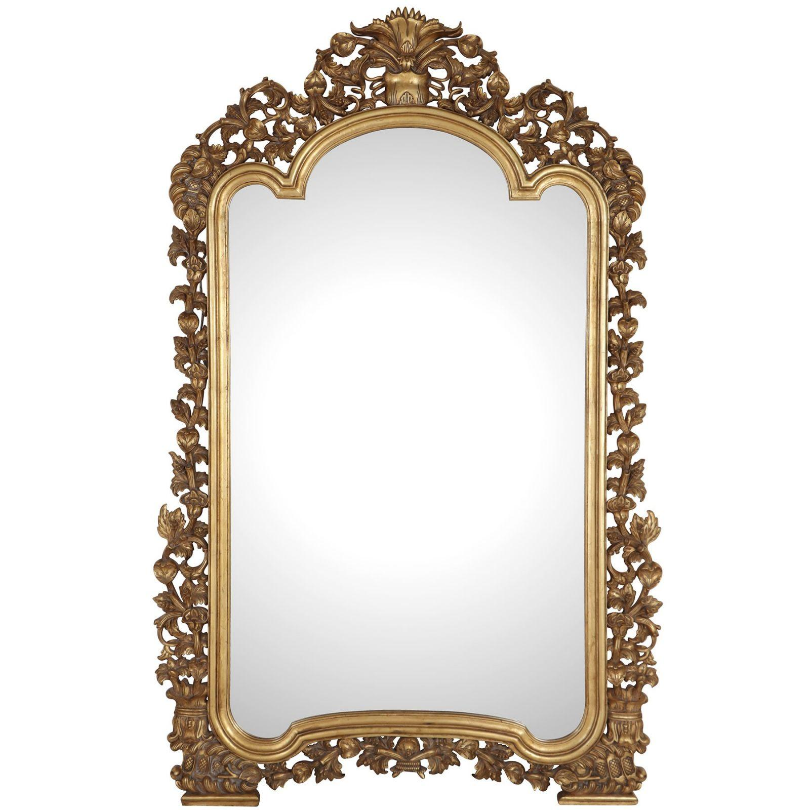 Large floral giltwood mirror