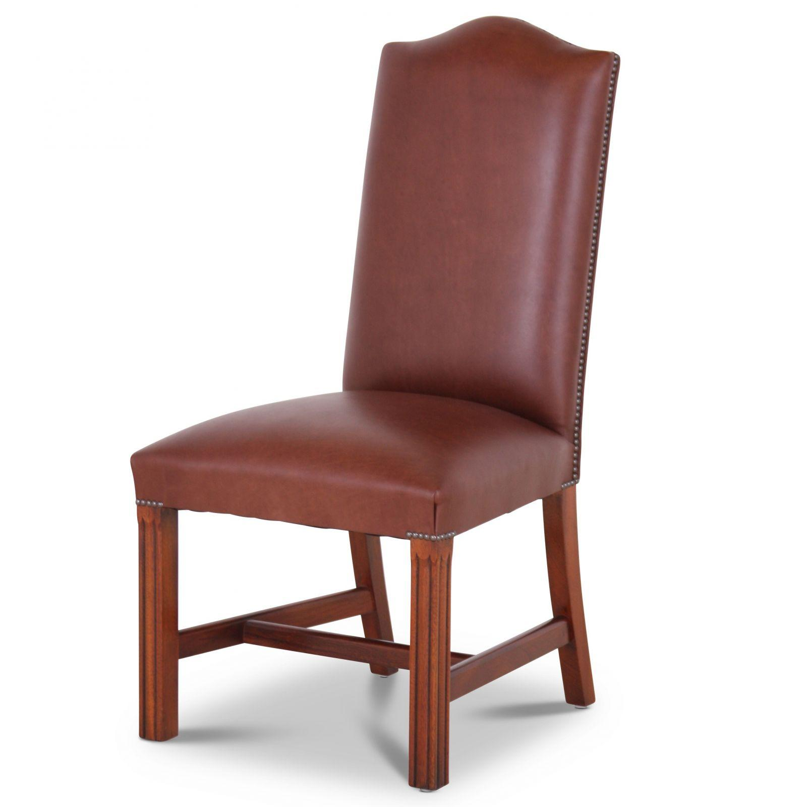 Leather Cathedral dining chair