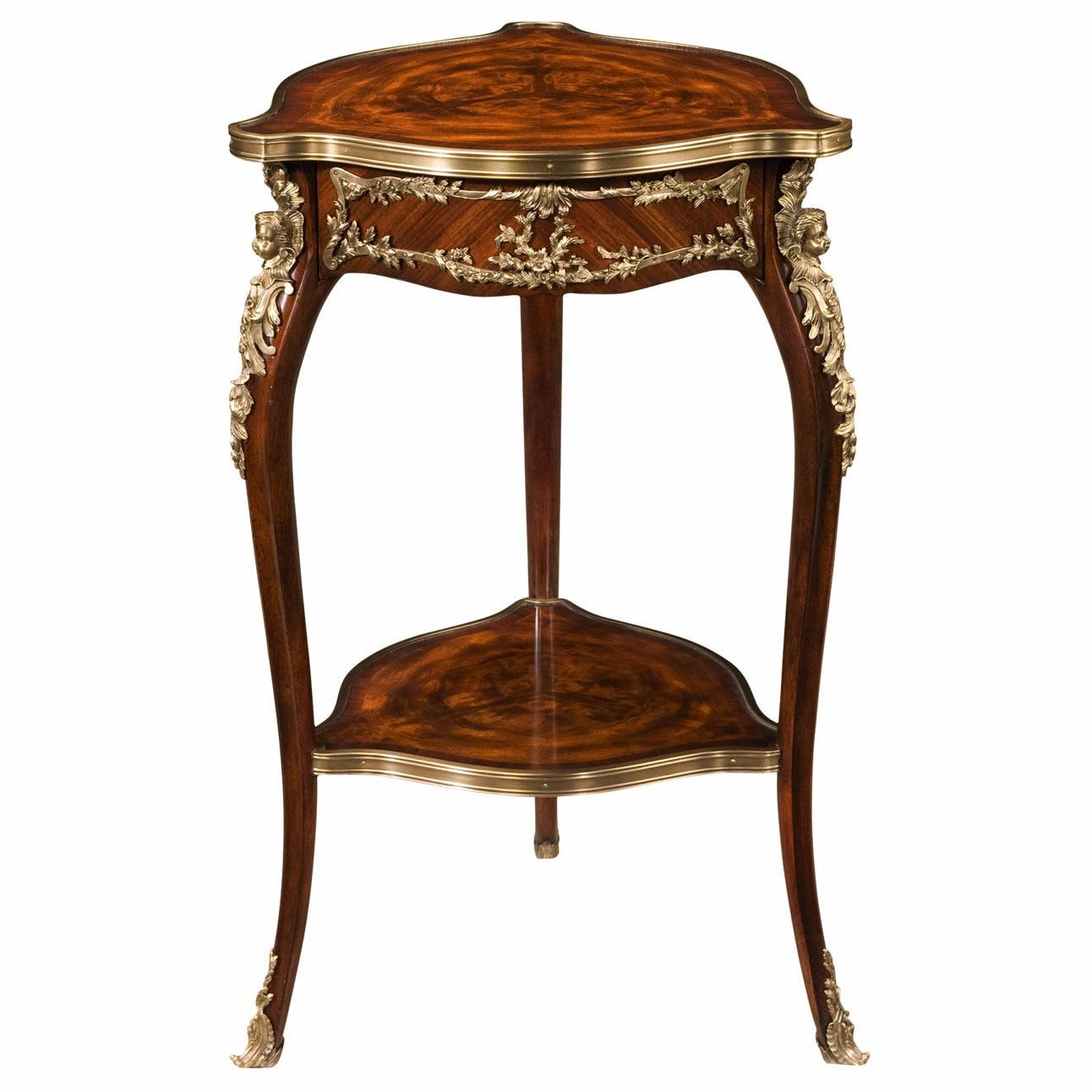 louis xv style mahogany and ormolu occasional table lamp side tables from brights of nettlebed. Black Bedroom Furniture Sets. Home Design Ideas